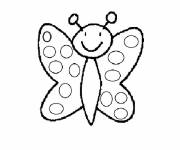 Coloriage et dessins gratuit Papillon facile Maternelle à imprimer