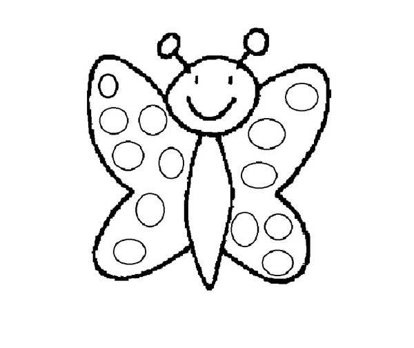 Coloriage Papillon Facile Maternelle Dessin Gratuit à Imprimer