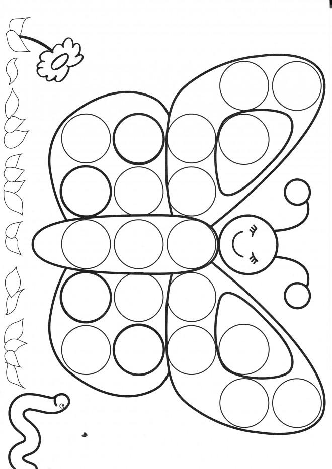 Coloriage papillon facile pour enfant dessin gratuit - Dessin de petit papillon ...
