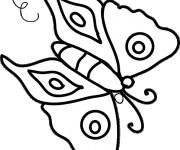 Coloriage dessin  Papillon Maternelle 12