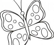 Coloriage dessin  Papillon Maternelle 14