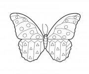 Coloriage dessin  Papillon Maternelle 3