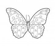 Coloriage et dessins gratuit Papillon Maternelle à compléter à imprimer