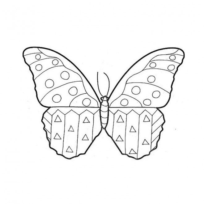 Coloriage et dessins gratuits Papillon Maternelle à compléter à imprimer