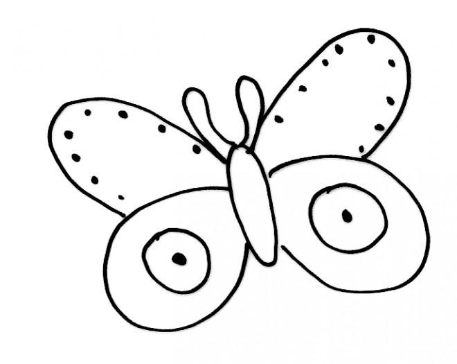 Coloriage et dessins gratuits Papillon Maternelle au crayon à imprimer