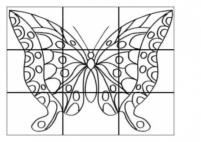 Coloriage papillon maternelle en carreaux dessin gratuit imprimer - Dessin papillon a decouper ...