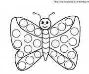 Coloriage et dessins gratuit Papillon Maternelle en couleur à imprimer