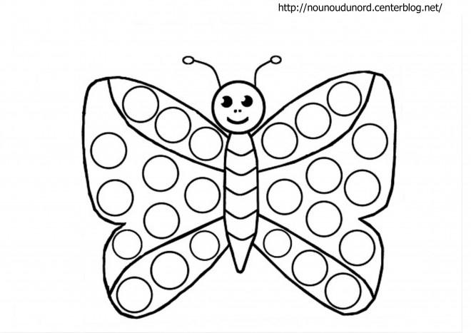Coloriage et dessins gratuits Papillon Maternelle en couleur à imprimer