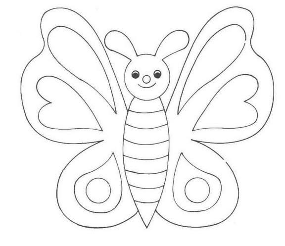 Coloriage et dessins gratuits Papillon Maternelle qui sourit à imprimer