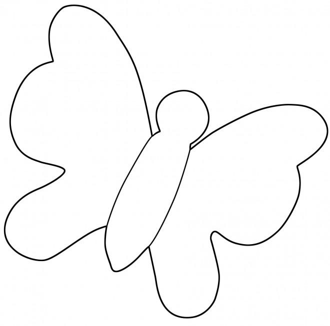 Coloriage et dessins gratuits Papillon Maternelle simple à imprimer