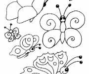 Coloriage et dessins gratuit Papillon maternelle simple à colorier à imprimer