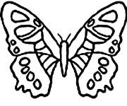 Coloriage et dessins gratuit Papillon Maternelle vecteur à imprimer