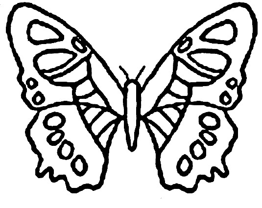 Coloriage papillon maternelle vecteur dessin gratuit imprimer - Dessin papillon a decouper ...