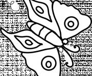 Coloriage Papillon Maternelle vectoriel