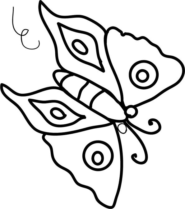 Coloriage et dessins gratuits Papillon Maternelle vectoriel à imprimer