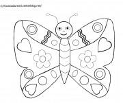 Coloriage et dessins gratuit Papillon mignonne à imprimer
