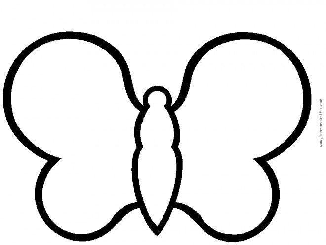 Coloriage papillon simple compl ter - Dessin papillon a decouper ...