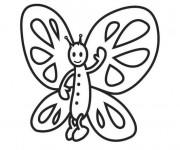 Coloriage et dessins gratuit Papillon te salue à imprimer