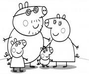 Coloriage Famille Peppa Cochon Série