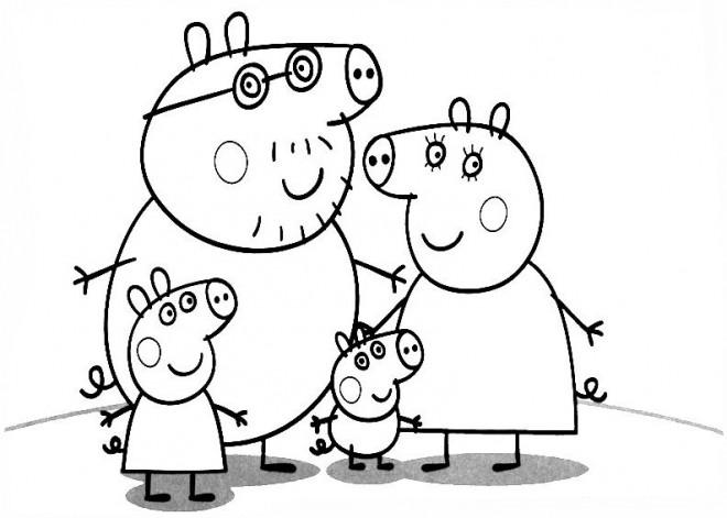 Coloriage et dessins gratuits Famille Peppa Cochon Série à imprimer
