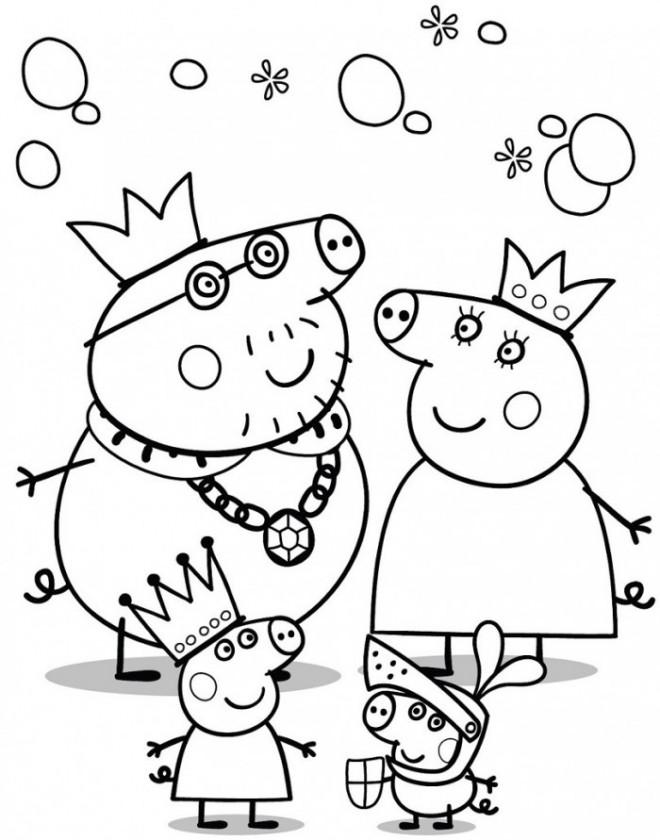 Coloriage et dessins gratuits La Famille Peppa Cochon Déguisement à imprimer