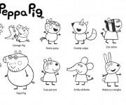Coloriage Les Personnages de Peppa Pig