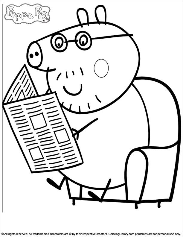 Coloriage et dessins gratuits Papa Cochon couleur à imprimer