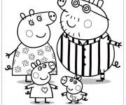 Coloriage et dessins gratuit Papa Et Maman Cochon à imprimer