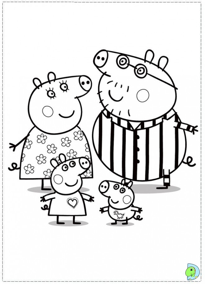Coloriage Papa Et Maman Cochon Dessin Gratuit à Imprimer