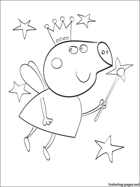 Coloriage et dessins gratuits Peppa Cochon Ange à imprimer