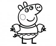 Coloriage Peppa Cochon dans La Mer