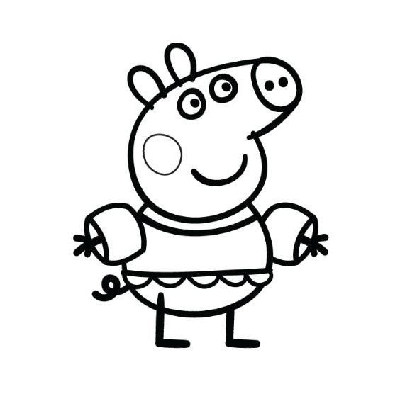 Coloriage et dessins gratuits Peppa Cochon dans La Mer à imprimer