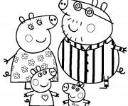 Coloriage Peppa Cochon dessiné pour Les Petits