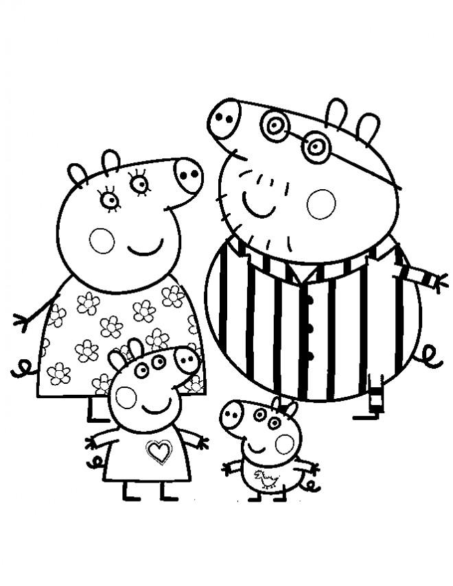 Coloriage et dessins gratuits Peppa Cochon dessiné pour Les Petits à imprimer