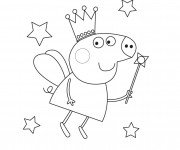 Coloriage Peppa Cochon en Mode Prince
