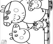 Coloriage et dessins gratuit Peppa Cochon en noir et blanc à imprimer