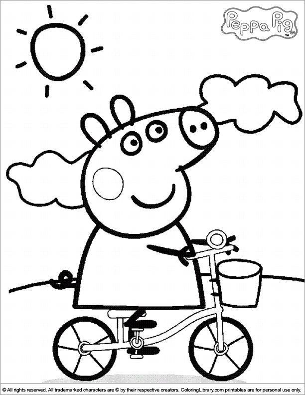 Coloriage et dessins gratuits Peppa Cochon en plein air à imprimer