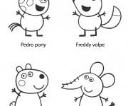 Coloriage Peppa Cochon et ses amis