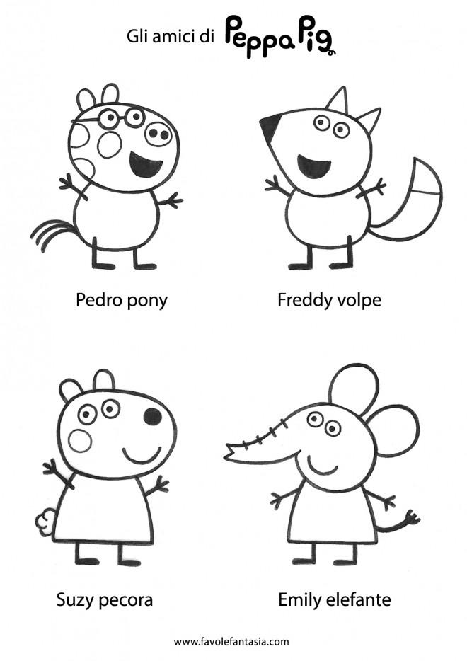 Coloriage et dessins gratuits Peppa Cochon et ses amis à imprimer