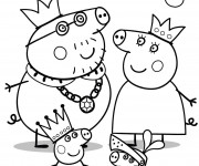 Coloriage Peppa Cochon Famille royale