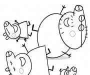 Coloriage Peppa Cochon Série Télévisée