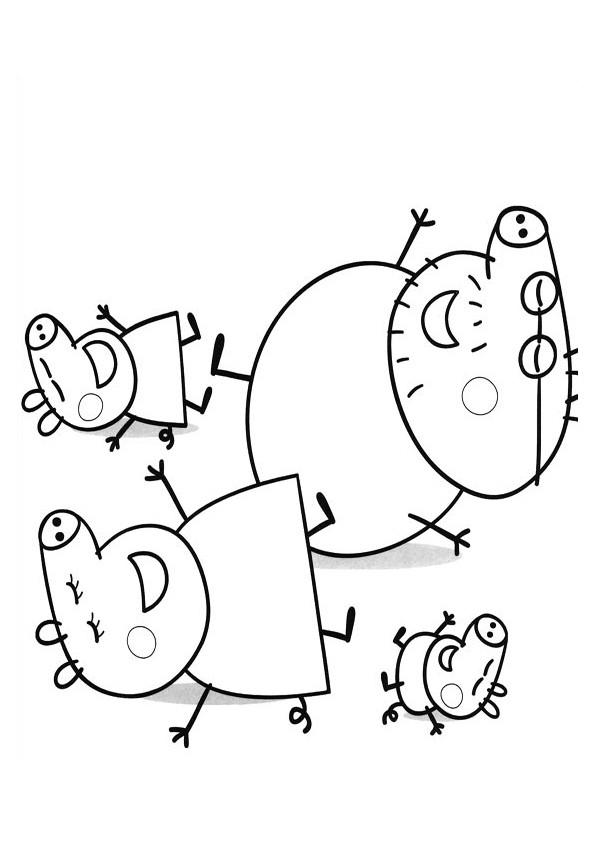 Coloriage et dessins gratuits Peppa Cochon Série Télévisée à imprimer