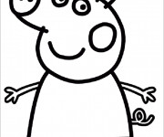 Coloriage Peppa Cochon simple