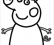 Coloriage et dessins gratuit Peppa Cochon simple à imprimer