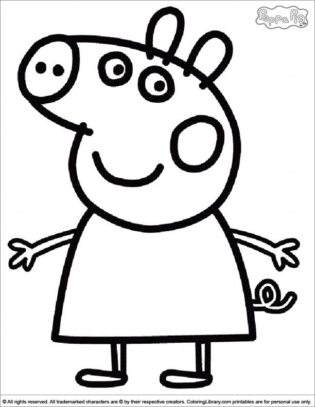 Coloriage Peppa Cochon Simple Dessin Gratuit A Imprimer