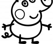 Coloriage Peppa Cochon vectoriel