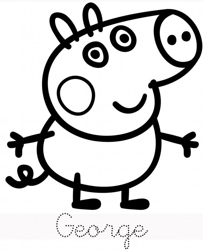 Coloriage et dessins gratuits Peppa Cochon vectoriel à imprimer