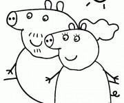 Coloriage dessin  Peppa Pig 10