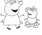 Coloriage dessin  Peppa Pig 23
