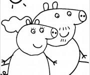 Coloriage dessin  Peppa Pig 24